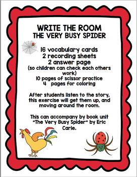 THE VERY BUSY SPIDER  WRITE THE ROOM