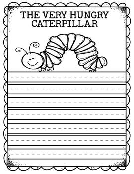 A HUNGRY CATERPILLAR WRITING SHEETS