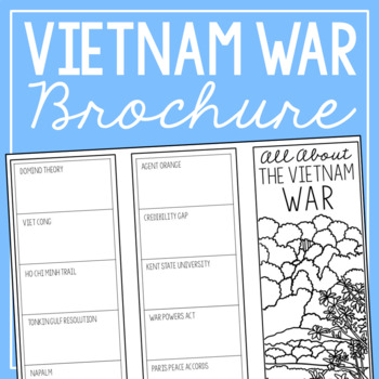 THE VIETNAM WAR Research Brochure Template, American History Project