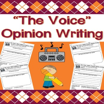 THE VOICE (TV Show) Opinion Writing