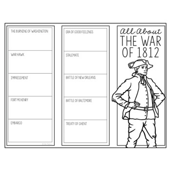 THE WAR OF 1812 Research Brochure Template, American History Project