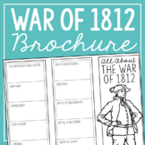 THE WAR OF 1812 Research Brochure Template, American Histo