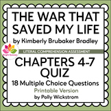 THE WAR THAT SAVED MY LIFE | CHAPTERS 4-7 | PRINTABLE QUIZ
