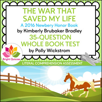 THE WAR THAT SAVED MY LIFE | PRINTABLE WHOLE BOOK TEST | 35 QUESTIONS