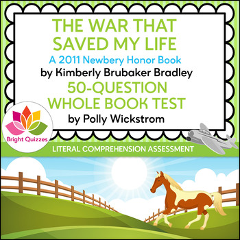 THE WAR THAT SAVED MY LIFE | PRINTABLE WHOLE BOOK TEST | 50 QUESTIONS
