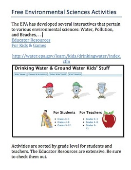 THE WATER CYCLE: Activities for All Grades