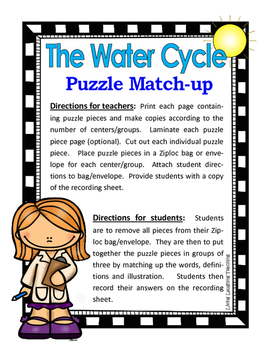 THE WATER CYCLE Activity Packet