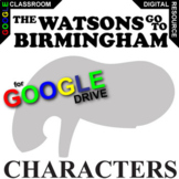 THE WATSONS GO TO BIRMINGHAM Characters Organizer (Created