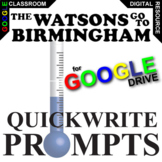 THE WATSONS GO TO BIRMINGHAM Journal - Quickwrite Writing (Created for Digital)