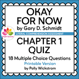 OKAY FOR NOW | CHAPTER 1 | PRINTABLE QUIZ