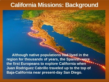 THE WEST! (PART 2: CALIFORNIA MISSIONS) visual, textual, engaging 133-slide PPT