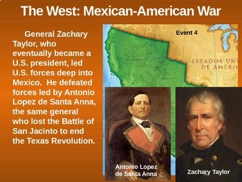 THE WEST! (PART 4: MEXICAN-AMERICAN WAR) visual, textual, engaging 133-slide PPT