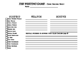 THE WESTING GAME - Crime Solving Sheet