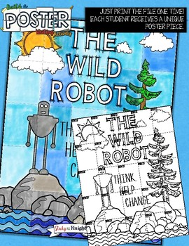 THE WILD ROBOT, BY PETER BROWN, WRITING ACTIVITY, POSTER, GROUP PROJECT