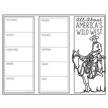 THE WILD WEST Research Brochure Template, American History Project