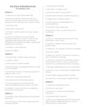 THE WITCH OF BLACKBIRD POND Vocabulary List