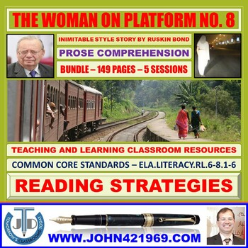THE WOMAN ON PLATFORM NO 8 - COMPREHENSION CLASSROOM RESOURCES - BUNDLE