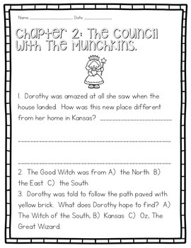 THE WONDERFUL WIZARD OF OZ NOVEL COMPREHENSION GUIDE