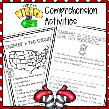 Wizard Of Oz Reading Comprehension Worksheets Teaching