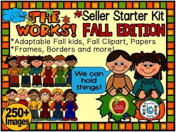 FALL-AUTUMN CLIP ART-THE WORKS! SELLER STARTER BUNDLE 300+