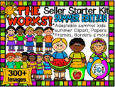 SUMMER CLIP ART EDITION (THE WORKS! SELLER STARTER BUNDLE) 300+ IMAGES-CU