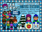WINTER CLIPART-THE WORKS! SELLER STARTER BUNDLE 200+ IMAGES