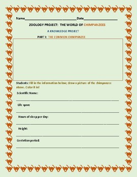 THE WORLD OF CHIMPANZEES: A KNOWLEDGE ACTIVITY: GRADES 3-7