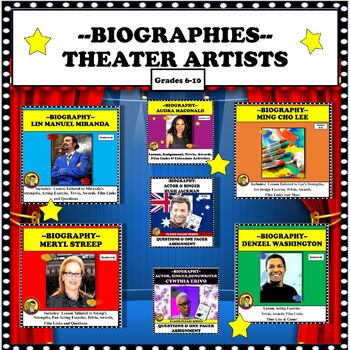 BUNDLE:  THEATER ARTISTS DISTANCE LEARNING