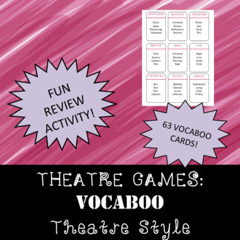 THEATRE GAMES: Theatre Term Vocaboo
