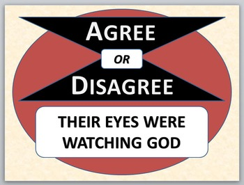 THEIR EYES WERE WATCHING GOD - Agree or Disagree Pre-reading Activity