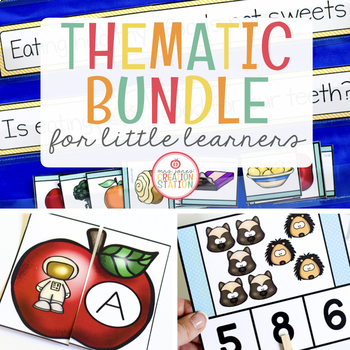 THEMATIC ACTIVITIES FOR LITTLE LEARNERS | GROWING BUNDLE