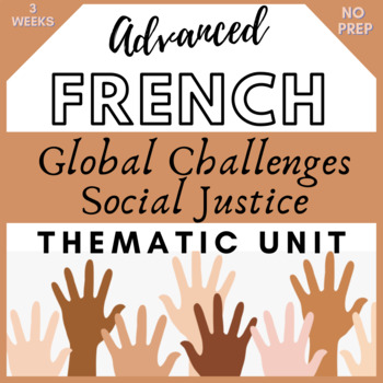 THEMATIC UNIT LESSON PLANS French GLOBAL CHALLENGES - Defis Mondiaux AP racism