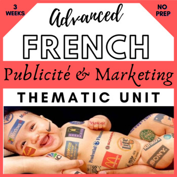THEMATIC UNIT PLAN French francais vie contemporaine medias et publicites  AP