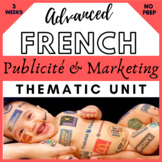 THEMATIC UNIT PLAN French francais vie contemporaine medias et publicites  AP