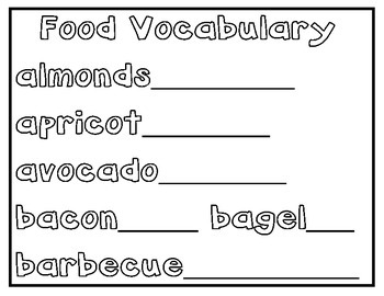 THEMATIC WORDS -Morning, Noon, Homework, too!  2nd Grade
