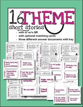 THEME - 16 long passages for scoot or review with or without QR codes