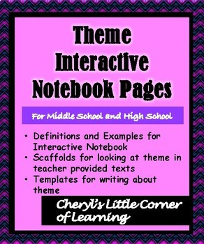 THEME Interative Notebook Pages with Paragraph Writing Templates