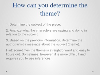 THEME PowerPoint: Notes & Activities using Songs