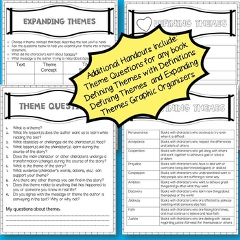 THEME TASK CARDS OR SCOOT AND THEME HANDOUTS