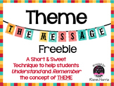 THEME  The Message   freebie