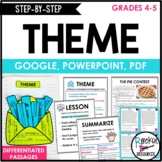 THEME UNIT- Story Elements, Summarize, Main Idea. Topic. Lesson. Theme