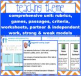 THEME -determine + analyze theme in fiction + folktales {CCS aligned}