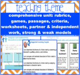 THEME -determine + analyze theme in fiction + folktales {C