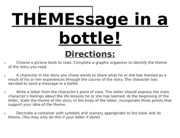 THEMessage in a bottle!