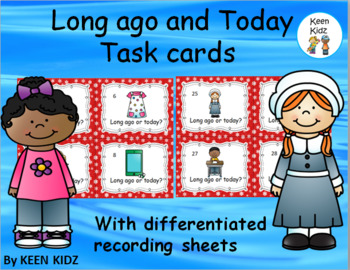 THEN AND NOW TASK CARDS