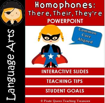 Homophones: THERE, THEIR, THEY'RE PowerPoint/CCSS Aligned