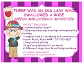 THERE WAS AN OLD LADY WHO SWALLOWED A ROSE (Free Speech and Language Activities)
