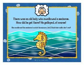 THERE WAS AN OLD LADY WHO SWALLOWED SEA CREATURES: A STORY BOOK FOR LITTLE KIDS
