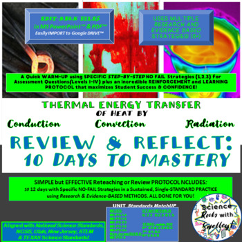 THERMAL Energy-Conduction Convection Radiation REDO & Reflect 10 Days to Master!