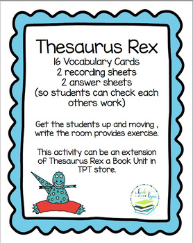 THESAURUS REX WRITE THE ROOM